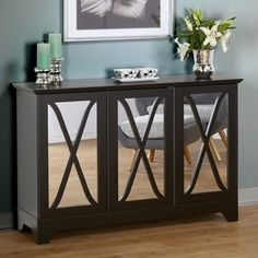 Top Product Reviews for Simple Living Reflections Black Buffet/ Console - Overstock.com - Mobile