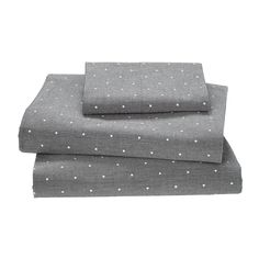 Dapper Kids Sheets (Grey Polka Dots) - this would pair well with the widest stripe duvet.