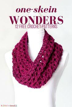 Crochet One Skein Wonders: 12 Free Patterns