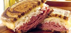 This Reuben sandwich recipe makes enough for one sandwich, including the Russian dressing. Just scale it up to make more sandwiches, and any extra dressing will keep in the fridge. Corn Beef Brisket Recipe, Corned Beef Recipes, Corned Beef Brisket, Sauerkraut Recipes, Pork Roast, Reuben Sandwich, Sandwich Recipes, Alton Brown, Beef Flank Steak