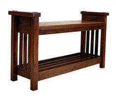 Large Bench In Arts And Crafts Style By Rmccustomwoodworks On Etsy 450 00 American