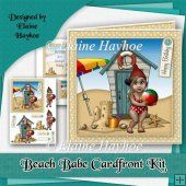 Beach Babe Cardfront Kit