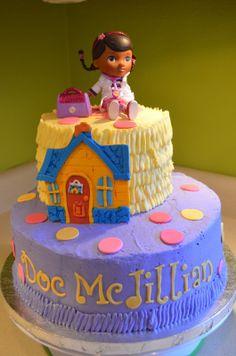doc mcstuffins cake | Well, here's Jillian's Doc McStuffins cake.