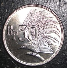 Details about 1971 Indonesia 50 rupiah, Greater Bird of Paradise, animal wildlife coin - The Color Of Money, Show Me The Money, Greater Bird Of Paradise, Indonesian Women, Old Commercials, Dutch East Indies, Old Money, Borneo, Coin Collecting