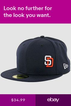 New Era 59Fifty San Diego Padres Flawless Gwynn Fitted Hat (Dark Navy) Cap a9beaf322188