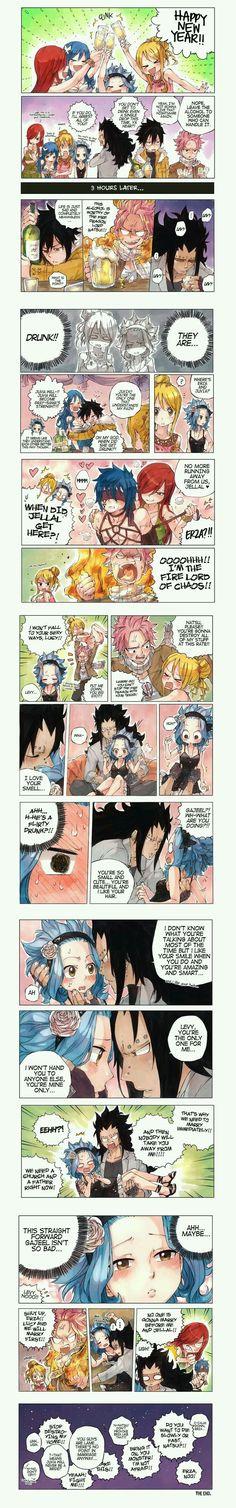 Drunk! Natsu x Lucy, Gajeel x Levy, Jellal x Erza & Gray x Juvia / Fairy Tail