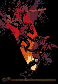 Dark Horse comics for December this is one of the covers for Hellboy In Hell drawn by Mike Mignola. Nobody draws Hellboy like Mignola. Comic Book Artists, Comic Book Characters, Comic Artist, Comic Character, Comic Books Art, Character Concept, Mike Mignola Art, Hellboy Tattoo, Comic Book