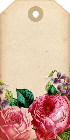 Tags, Decorative, Scrapbook, Roses, Vintage, Paper