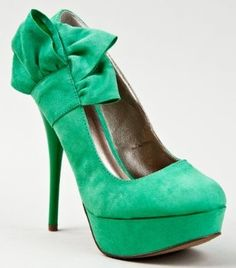 green shoes Qupid NEUTRAL 212 Bow Tie Slip On Stiletto High Heel Platform Pump Price 23 00 6351 |Green Heels|