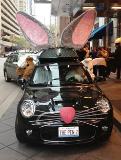 The Peninsula Chicago unveils its MINI Cooper all decked out for Spring. Peter Rabbit scored some new wheels for this year's trip down the Bunny Trail!