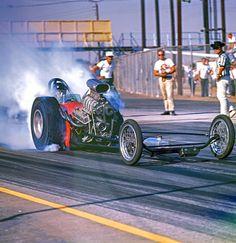 Vintage Drag Racing - Dragster at Lions