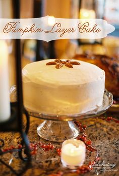 Delicious Pumpkin Layer Cake recipe :: A Few of My Favorite Easy Thanksgiving Recipes