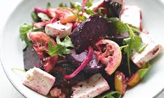 Yotam Ottolenghi's grilled beetroot and lemon salad: 'To get the best results, the chargrill must be very hot.' Photograph: Colin Campbell f...
