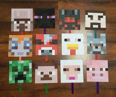 Minecraft photo booth masks Minecraft Mask, Minecraft Costumes, Minecraft Birthday Party, 8th Birthday, Birthday Parties, Birthday Ideas, Game Themes, Party Themes, Party Ideas