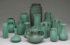 Vintage Teco Pottery | Teco Pottery (1899-1917) - Matte Green Glazed Pottery. Chicago ...