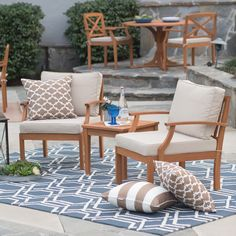 Have to have it. Belham Living Brighton Outdoor Wood Deep Seating Chat Set - $439.98 @hayneedle