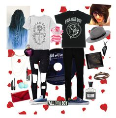 """""""Fall Out Boy date look"""" by queen-of-jupiter ❤ liked on Polyvore featuring Creed, Wood Wood, WithChic, Converse, Vans, Brixton, Wet Seal, Alexander McQueen, L.K.Bennett and Yves Saint Laurent"""