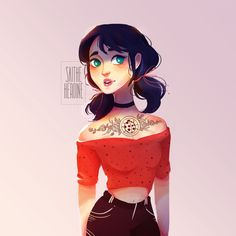 Tattooed Marinette
