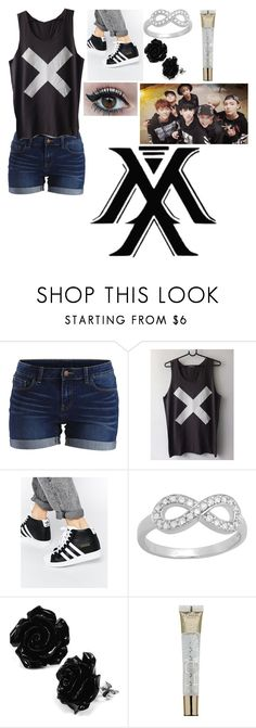 """My Monsta X outfit"" by knife2theheart ❤ liked on Polyvore featuring VILA, adidas, Sterling Essentials and L'Oréal Paris"