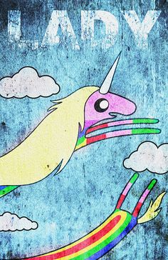 Lady Rainicorn... Character from the Animated TV by AllThatGeek, $20.00