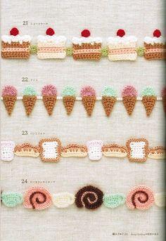 PATRONES GRATIS DE CROCHET: Patrón de varias puntillas muy dulces a crochet
