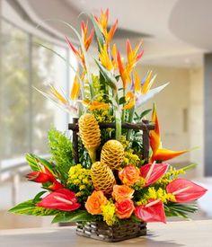 Beautiful Tropical Floral Arrangement