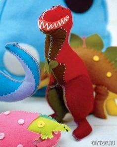 Как сшить мягкую игрушку динозавра. Мастер-класс по текстильному динозавру