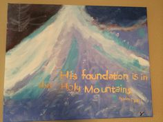 Psalms 87:1 by ZCPaintings on Etsy
