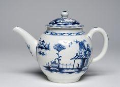 Date: c. 1760 Medium: Soft-paste porcelain with underglaze blue decoration Dimensions: 5 3/8 x 7 11/16 x 4 1/2 inches (13.7 x 19.5 x 11.4 cm)