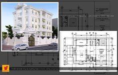 Biệt thự cổ điển hoàng gia Floor Plans, Floor Plan Drawing, House Floor Plans