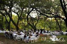 Outdoor wedding reception venue in south Texas. Vintage Oaks Events www.vintageoaksevents.com