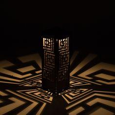 ClaroLux Geometry CorTen Steel Light Bollard