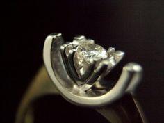 Art Deco Diamond Solitaire 18K Vintage by BelmontandBellamy