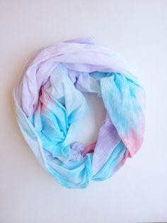 Lightweight rainbow scarf, rainbow oversized scarf, pastel scarf, rainbow scarf, tie dyed mermaid scarf, dyed rainbow scarf by seekandwander on Etsy https://www.etsy.com/listing/241908553/lightweight-rainbow-scarf-rainbow