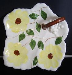 Blue Ridge Southern Pottery maple leaf tray... Wouldn't this be great to serve pastries on for a formal tea?