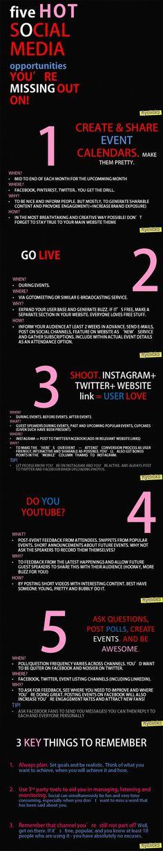 Social Media Tips for Event Hosts, Workshop Organisers and TV/Online Presenters #socialmedia