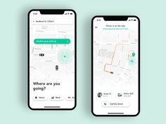 Taxi App iOS designed by Jan Marek for INLOOPX. Connect with them on Dribbble; the global community for designers and creative professionals. Design Taxi, Mobile Ui Design, App Ui Design, Flat Design, Design Design, Dashboard Design, Icon Design, Design Thinking, Motion Design