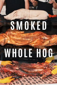 Hosting a whole pig roast is an amazing way to feed a crowd. The meat in this pig is incredibly tender and the process is simpler than you might think! Bbq Rib Rub, Ribs On Grill, Bbq Ribs, Bbq Pork, Grilling Recipes, Pork Recipes, Cooking Recipes, Smoker Recipes, Game Recipes