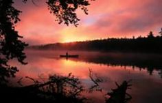 Sunset in the Boundary Waters Canoe Area, Ely, Minnesota.