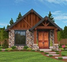 Rustic Guest Cottage or Vacation Getaway - 85106MS | Craftsman, Mountain, Vacation, Exclusive, Narrow Lot, 1st Floor Master Suite, CAD Available, PDF | Architectural Designs