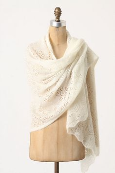 I would love this for when I travel, doubles as a light blanket! Adelita Pointelle Wrap. Chevron designs are woven into the oatmeal-hued, one-arm silhouette of this stitchy mohair-merino shawl. By Angel of North. Kid mohair, merino wool, nylon