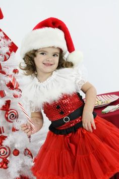 Boutique Pageant Christmas Winter Santa Claus Sequin Corset and Twirl, 12MO-7/8 by heavenlythingsforangels for $48.00