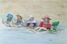 Baby Kicks - Sheila Nash watercolor