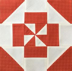 Block 3 - Disappearing pinwheel quilt sampler