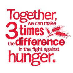 """Bank of America has partnered with Feeding America to help fight hunger this holiday season. For every $1 you give, Bank of America will give $2.  When you designate your gift to """"Your Local Food Bank"""" your donation will stay in your city!    http://help.feedingamerica.org/site/PageServer?pagename=BOA_GiveAMeal_subsrc=BAC_print"""