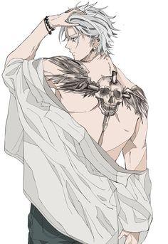 Omg that tat Manga Anime, Manga Boy, Hot Anime Boy, Cute Anime Guys, Anime Boys, Anime Cosplay, Character Inspiration, Character Art, Lara Croft Cosplay