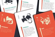 Dragoon Game Card Design, Board Game Design, Bord Games, Action Cards, Lets Play A Game, Dragon Games, Design Research, Strategy Games, Visual Development