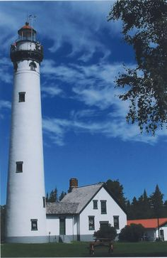 The Lighthouses of Presque Isle Michigan--Michigan has a grand total of 116 lighthouses on it's borders with the great lakes.  Michigan has the greatest number of lighthouses in the entire USA.