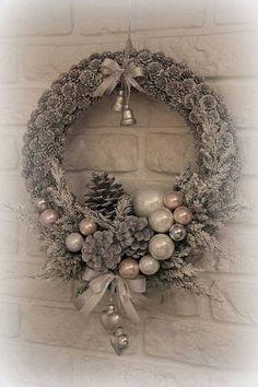 Weihnachtskranz basteln - 20 Ideen zum selbermachen - Weihnachten 2017 - basteln für Weihnachten - Türkranz basteln - Weihnachtsdeko