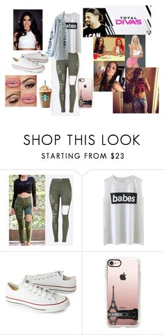 """""""Total Divas Dani Bella,Nikki,Brie and Eve Marie talks to Summer Rae"""" by safia4life ❤ liked on Polyvore featuring Episode, Converse and Casetify"""